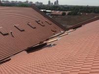 Vue d'ensemble avec réfection complète de la toiture du bâtiment 210